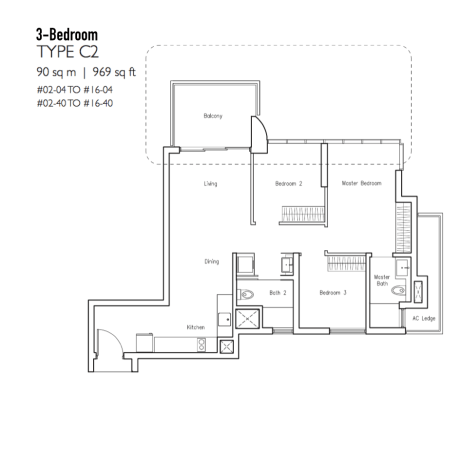New Condo Launch - LakeVille - Floor Plan Type C2