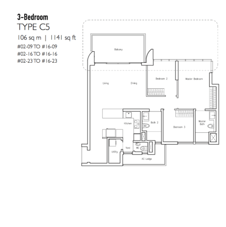 New Condo Launch - LakeVille - Floor Plan Type C5