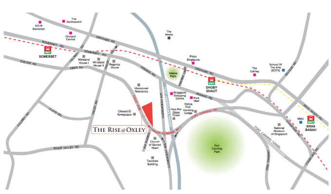 The Rise @ Oxley Residences - Location Map