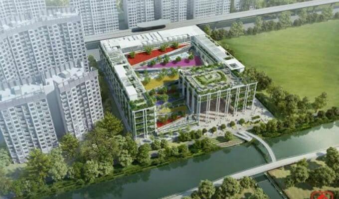 Oasis Terrace Punggol - Aerial View