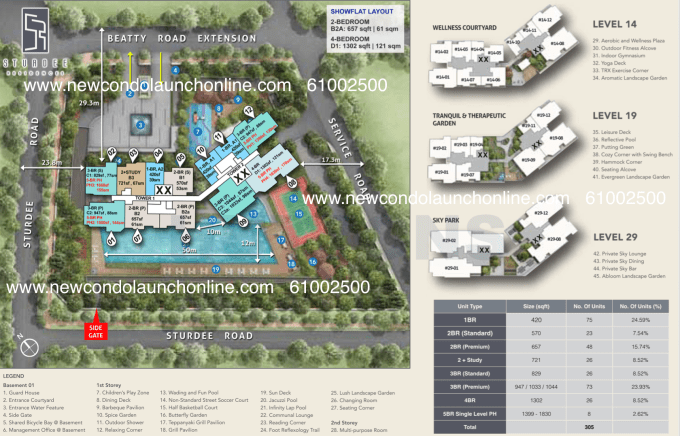Sturdee Residences - New Launch - Site Plan Coded