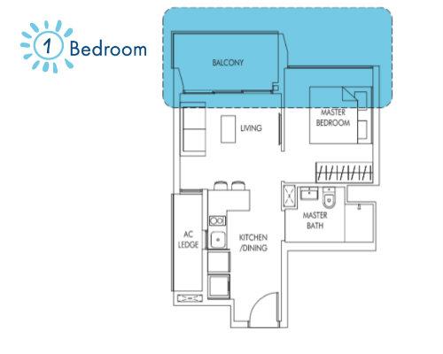 Sol Acres - Floor Plan - 1-Bedroom