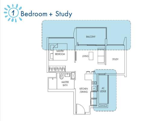Sol Acres - Floor Plan - 1-Study