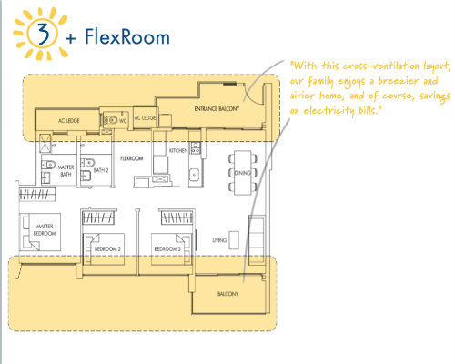 Sol Acres - Floor Plan - 3-Flexi