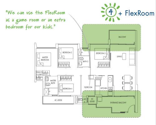 Sol Acres - Floor Plan - 4-Flexi