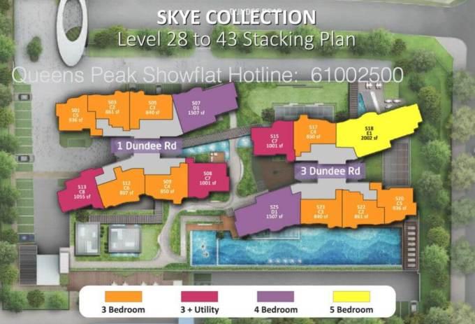 Queens Peak Site Plan Level 28 to 43