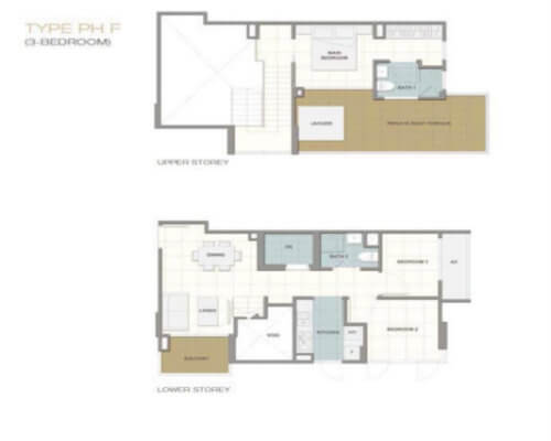 Forte Suites Penthouse 3-Bedroom - Singapore Condos