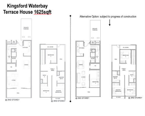 Kingsford Water - Floor Plan Terrace House 1625sf