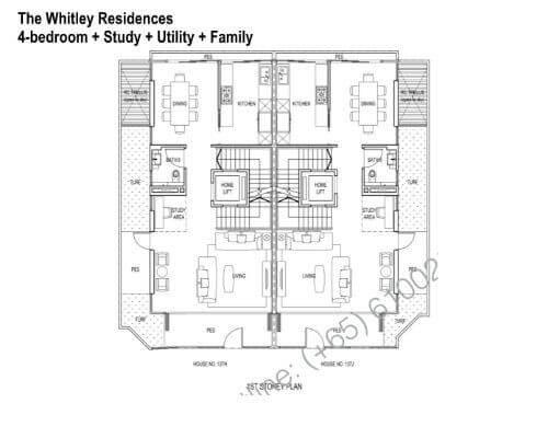 The Whitley Residences Floor Plan 1st Storey