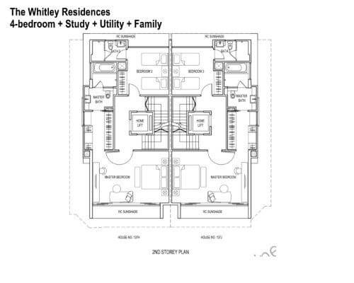 The Whitley Residences Floor Plan 2nd Storey