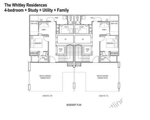 The Whitley Residences Floor Plan Basement
