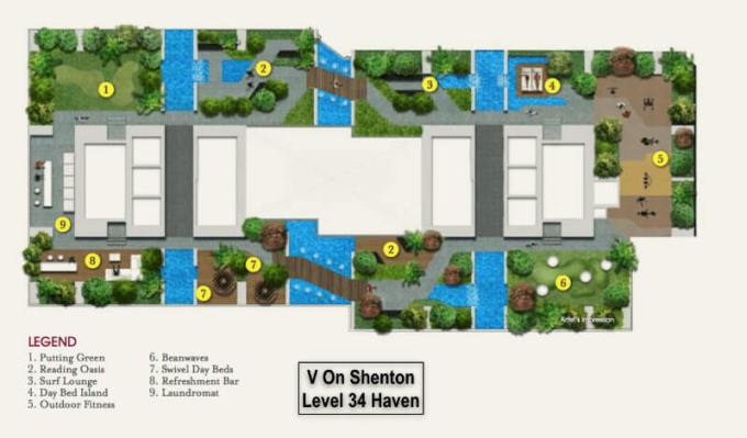 V On Shenton 34th Level Facility Plan
