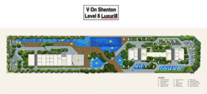 V On Shenton 8th Level Facility Plan