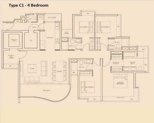 The Meyerise C1 4-bedroom