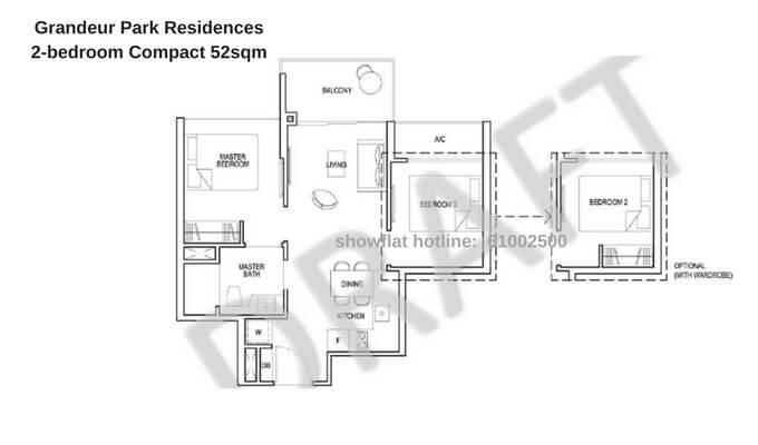 Grandeur Park Residences 2br Compact 52sqm