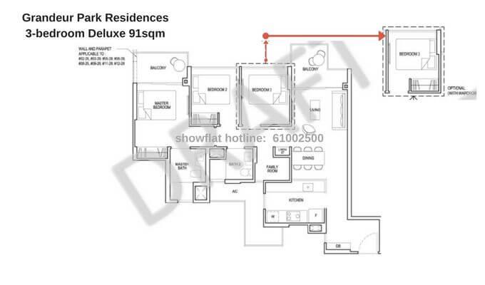 Grandeur Park Residences 3br Deluxe 91sqm