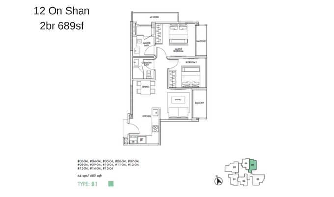 12 On Shan 2br 689sf
