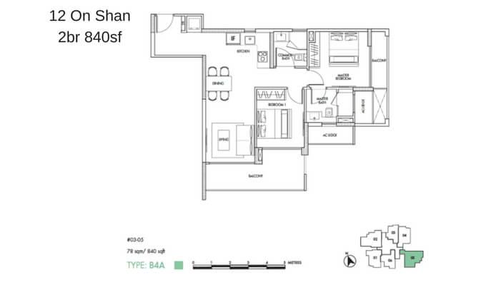 12 On Shan 2br 840sf