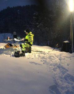 skjøting i snøvær