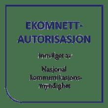 Ekomnettautorisasjon fra Nasjonal Kommunikasjonsmyndighet