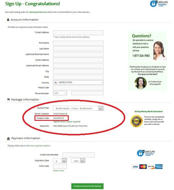 How to Use GreenGeeks Coupons and promo codes copy