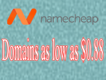 NameCheap – Domains as low as $0.88