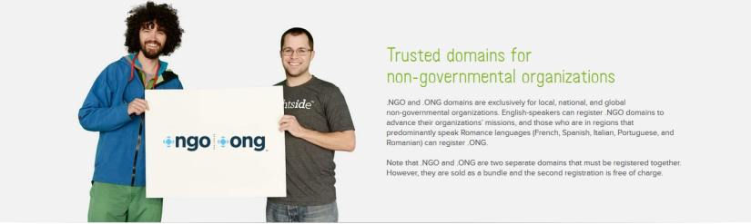 0.99 .NGO domains for non-governmental organizations