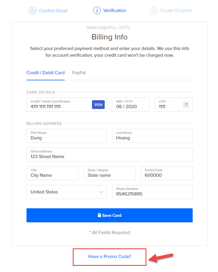 2 how signup and create droplet at digitalocean