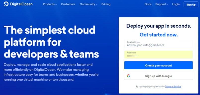 DigitalOcean Promo Code - Free $50 Credit on November 2019