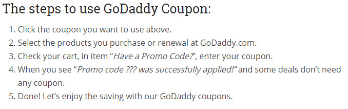 GoDaddy Coupon & Promo Codes For March 2021
