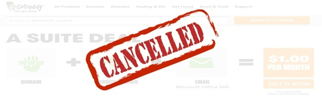 How to Cancel a Product or Service at GoDaddy?