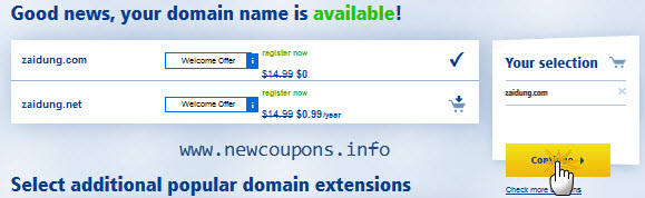 Get Free domain from 1and1.com in Mar 2016