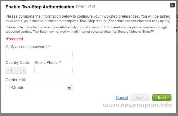 GoDaddy Two Step Authentication