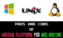 Web Hosting Various Platforms - pros and cons on ncp