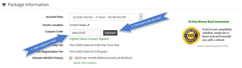 how to use greengeeks coupon codes
