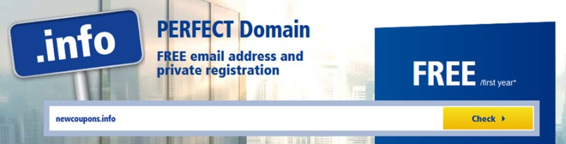 Free .Info domain from 1&1 - Limited time