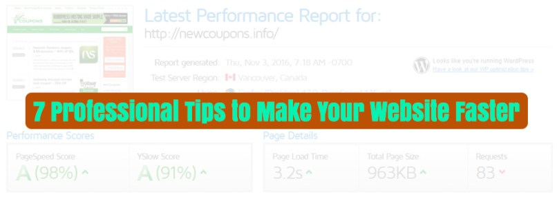 7 Professional Tips to Make Your Website Faster