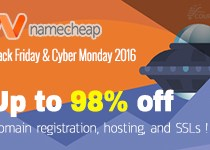 [ENDED] NameCheap Black Friday – Cyber Monday 2016 Deals !