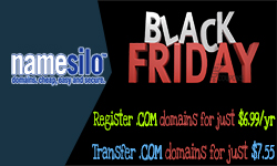NameSilo Black Friday Coupons: Discount for .Com domains
