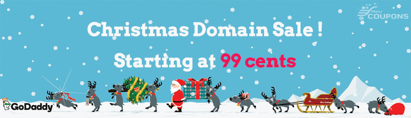 godaddy christmas domain sale at 99 cent