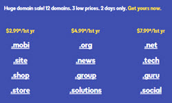godaddy 3 low prices
