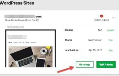 step 1 - change main domain on godaddy wordpress hosting