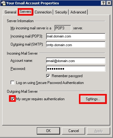 How To Enable SMTP Authentication at Network Solutions