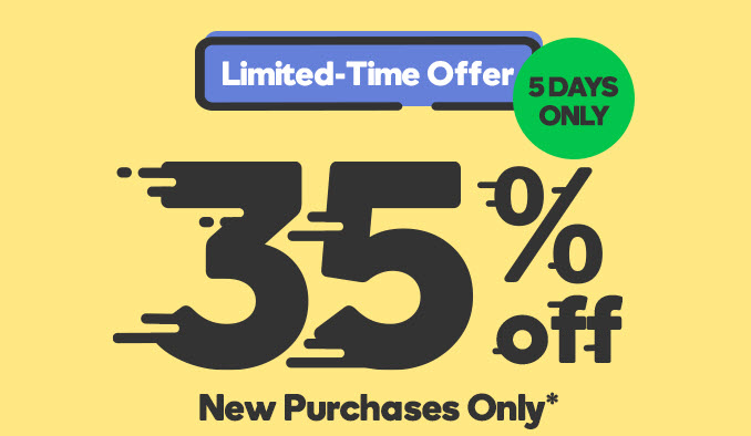 Get a 35% discount on all products at GoDaddy for 5 days only