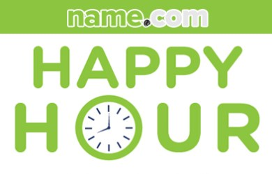 name.com domain happy hour promotion