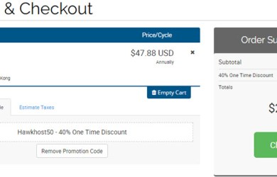 hawkhost 40% one time discount coupon