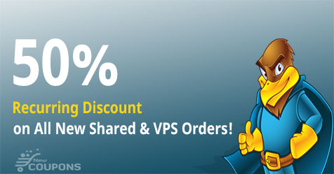 50% Recurring Discount for Shared and VPS hosting at HawkHost