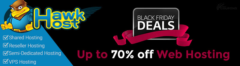 HawkHost Black Friday Sales: Up to 70% off web hosting