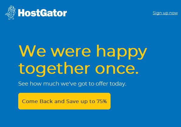 Save 75% All Web Hosting Plans From HostGator