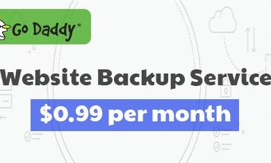 godaddy website backup 99 cent